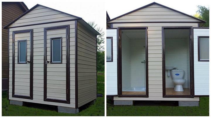 Душ и туалет под одной крышей для дачи